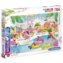 Puzzle-Flamingos-Party-104-Pecas