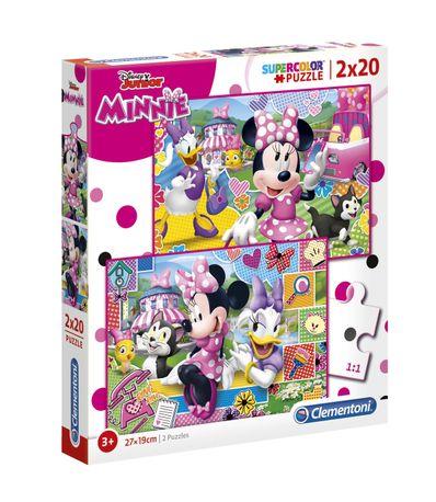 Quebra-cabeca-Minnie-Mouse-Feliz-2x20-Pecas
