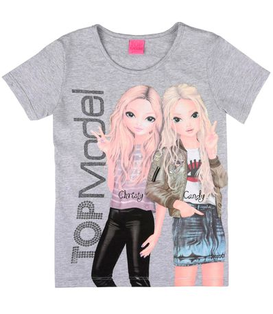 Top-Model-T-Shirt-Cinza