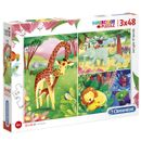Puzzle-Animaux-de-la-Savane-3x48-Pieces