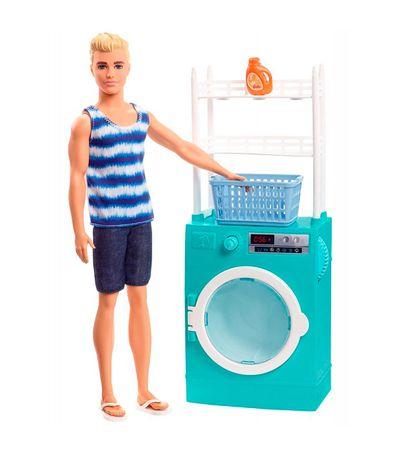 Ken-con-Mobiliario-Lavadora
