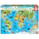 Puzzle-Mapamundi-Animal-150-Piezas
