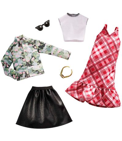 Barbie-Pack-2-Looks-Plaid-and-Camo