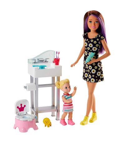 Kangourou-Barbie-avec-accessoires-de-salle-de-bain