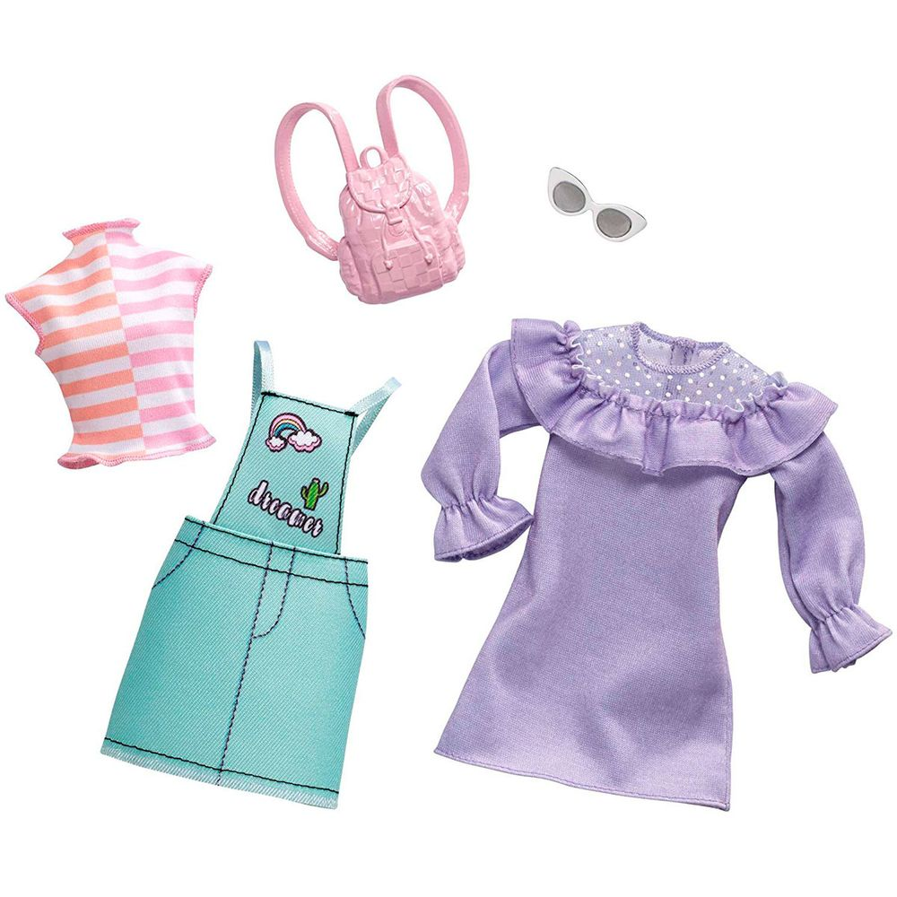bb50455ac Barbie Pack 2 Looks Colores Pastel - drimjuguetes