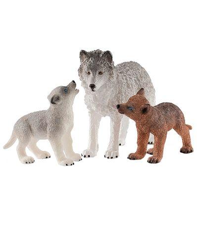 Pacote-de-figuras-Mama-Lobo-com-filhotes