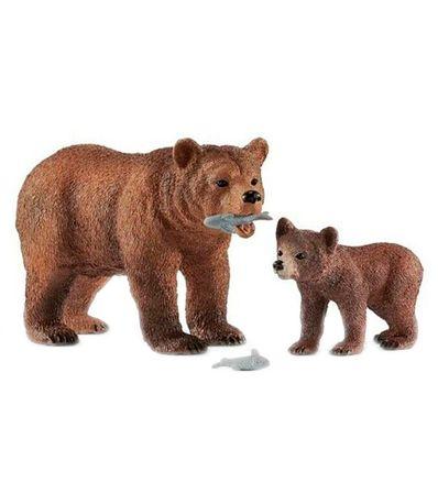 Pacote-de-figuras-mae-urso-Grizzly-com-reproducao