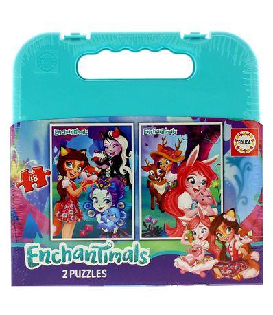 Enchantimals-Maleta-Puzzle-2x48-Piezas