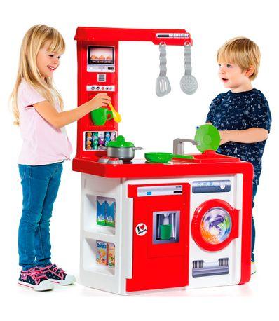 Cocina-Moderna-Roja-con-Accesorios