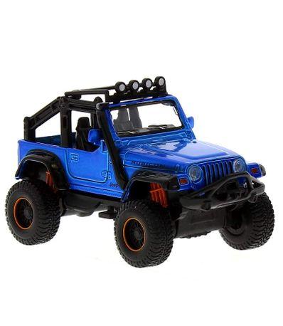 Metal-frais-voiture-miniature-Jeep-4x4-bleu
