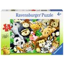 Puzzle-dessins-d--39-animaux-de-la-jungle-35-pieces