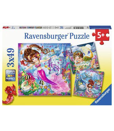 Puzzles-de-sirenes-dans-la-mer-49-pieces