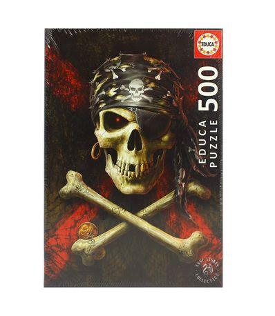 Puzzle-Calavera-Pirata-500-Piezas