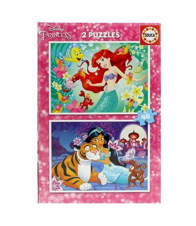 Princesas-Disney-Puzzle-Ariel---Jasmin-2x48