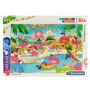 Puzzle-Flamingos-Party-104-Piezas