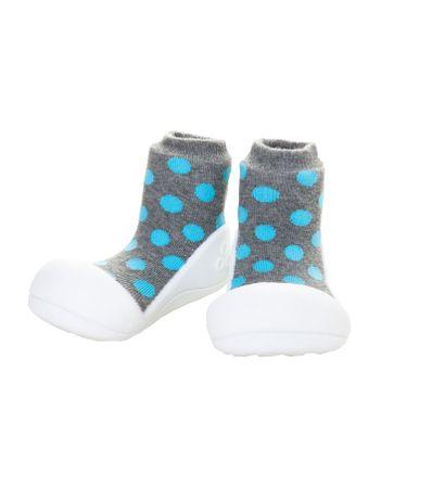 Sapato-Primeiros-Passos-Polka-Dot-Azul-T215