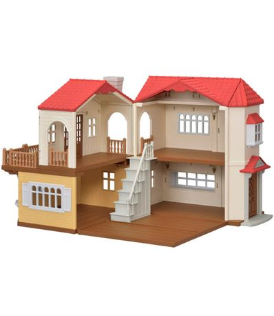 Familias-Sylvanian-House-with-Lights