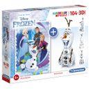 Frozen-Puzzle-104-Piezas-con-Olaf-3D