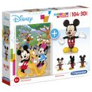 Mickey-Mouse-Puzzle-104-Piezas-con-modelo-3D