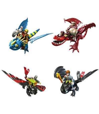 Dragones-Riders-Dragon-con-Figura-Surtido