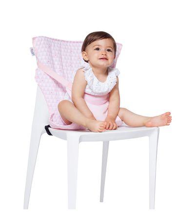 Chaise-haute-rose-pour-chaise