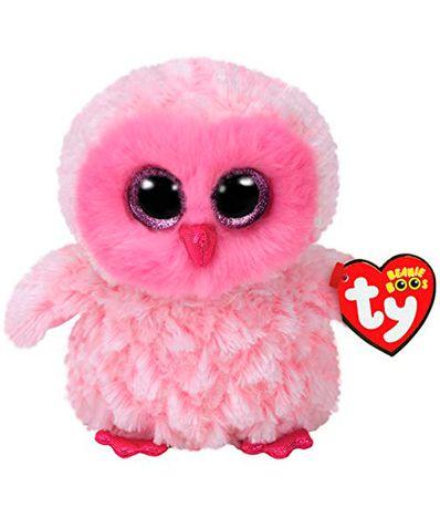 Pelucia-Coruja-Rosa-Beanie-Boo-15-cm
