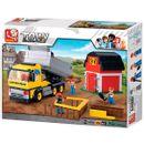 Camion-de-cargaison-de-blocs-de-construction-sluban