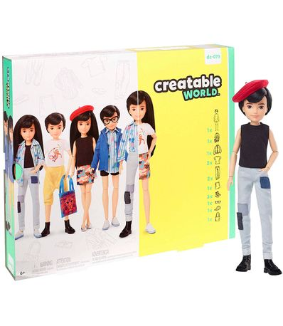 Creatable-World-Kit-Figura-Peluca-Negra