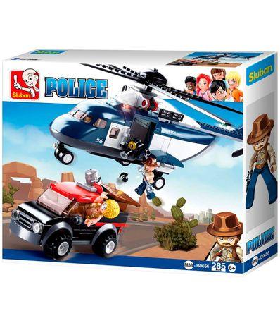 Sluban-Bloques-de-Construccion-Helicoptero-Policia