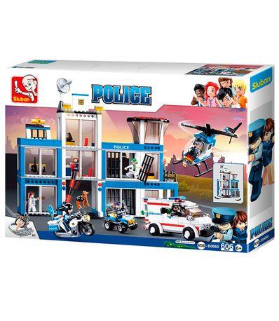 Sluban-Bloques-de-Construccion-Comando-Policia