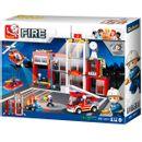 Caserne-de-pompiers-des-blocs-de-construction-Sluban