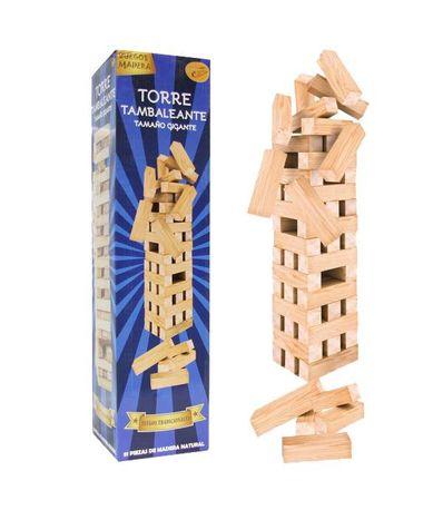 Jogo-de-Madeira---Torre-de-empilhar-Gigante