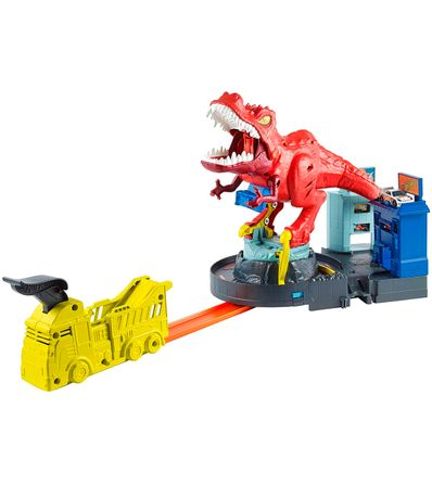 Hot-Wheels-City-Alboroto-del-Dinosaurio-T-Rex