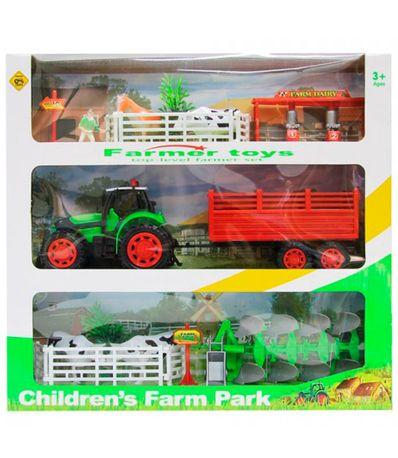 Playset-Tractor-de-Granja-con-Complementos