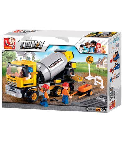 Sluban-Bloques-de-Construccion-Camion-Hormigonera