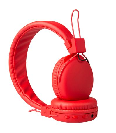 Ecouteurs-bluetooth-rouge