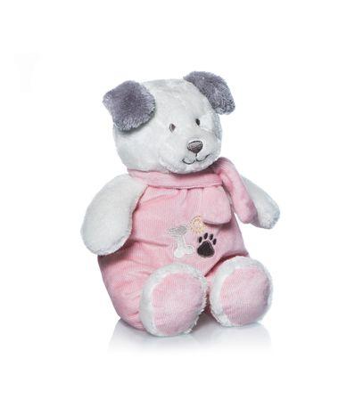 Pelucia-rosa-Tomy-filhote-de-cachorro