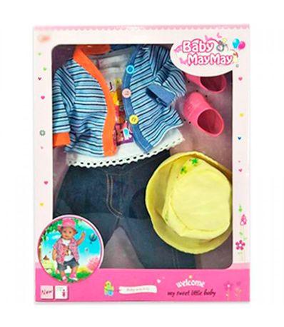 Conjunto-de-roupas-Boneca-Listrada-43-46-cm