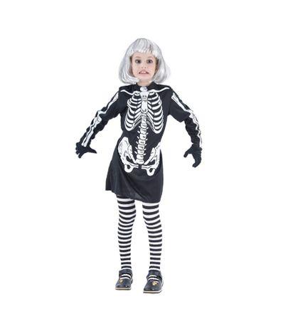 Disfarce-Esqueleto-Menina