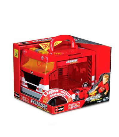 Miniatura-Carro-Ferrari-Cube-Playset