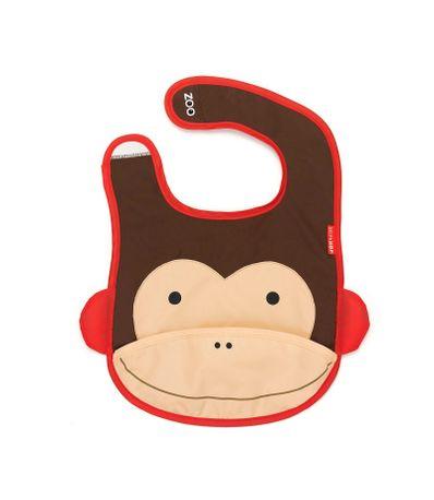 Babero-con-bolsa-Monos