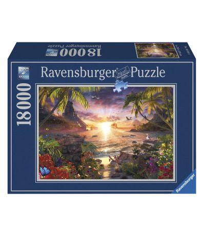 Coucher-de-soleil-Pieces-18000-paradisiaques-Puzzle