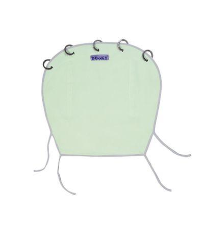 Auvent-pour-poussette-Dooky-Vert-eau-gris