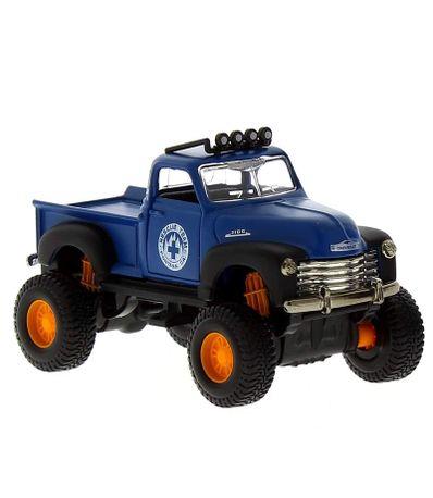 Miniature-Car-Fresh-Metal-4-x-4-Chevrolet-Azul