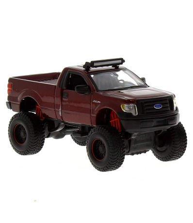 Miniatura-carro-fresco-Metal-4x4-vermelho-Ford
