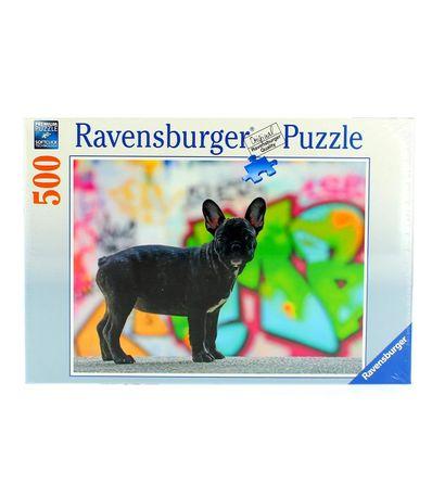 Puzzle-Bulldog-Frances-de-500-Piezas