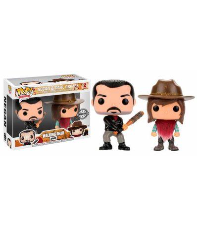 Pack-2-Figurines-Funko-Pop-Negan--amp--Carl