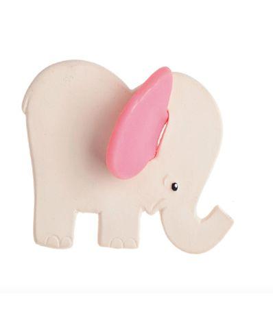 Borracha-Natural-Elefante-Mordedor-Rosa