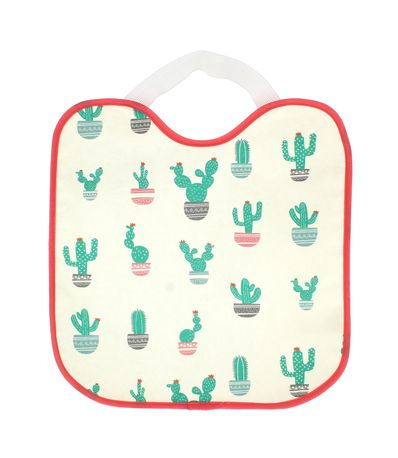 Babero-Impermeable-con-goma-Cactus-Rosa