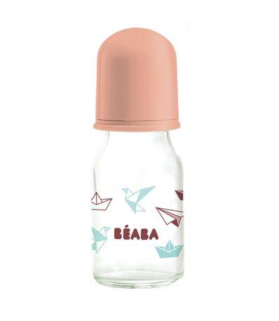 Biberon-Cristal-110-Ml-Origami-Rosa